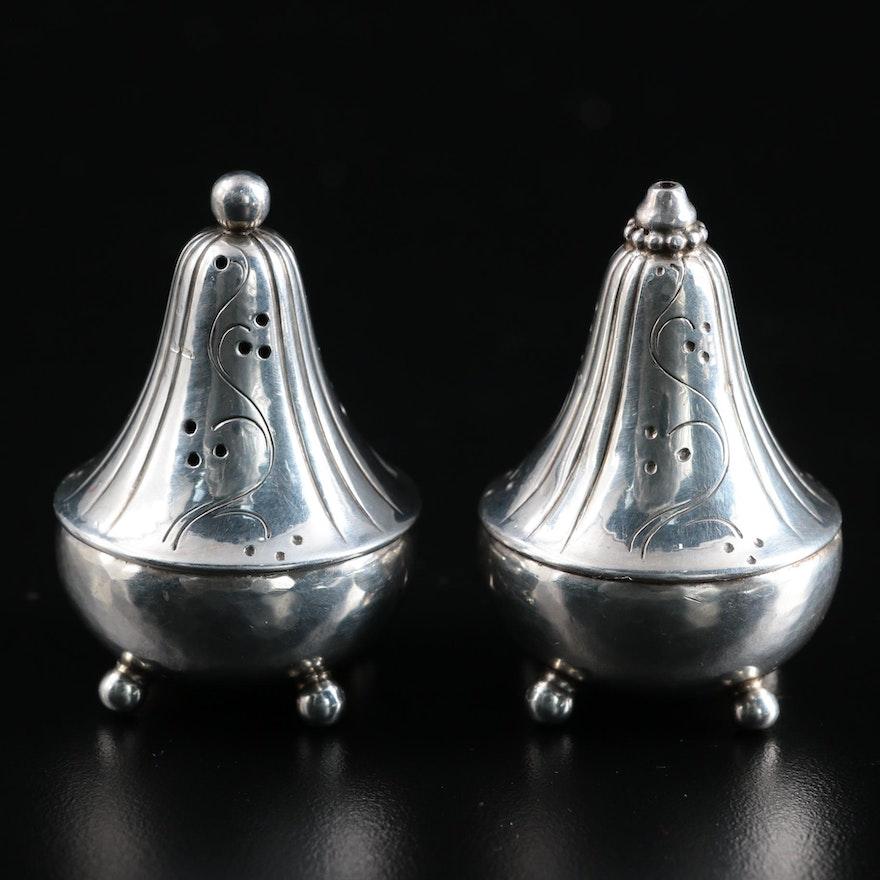 Georg Jensen Danish Modern Sterling Silver Salt and Pepper Shakers