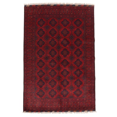 6'6 x 10' Hand-Knotted Afghan Kunduz Wool Area Rug