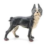 Hubley Style Cast Iron Boston Terrier Doorstop, Early to Mid 20th Century