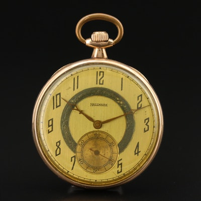 1920 Hallmark by Illinois Gold Filled Open Face Pocket Watch