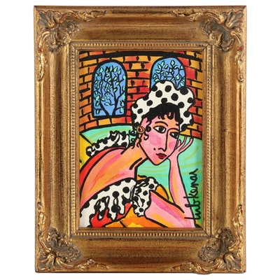 "Eric Lubkeman Acrylic Painting ""Senorita"""