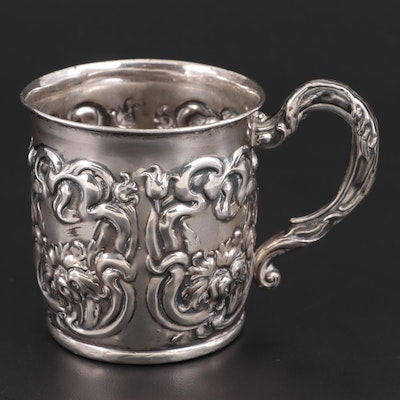 Repoussé Sterling Silver Baby Cup, Late 19th/Early 20th Century