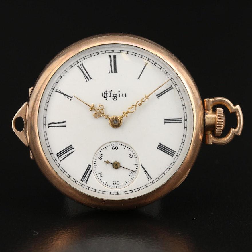 """1899 Elgin """"Duchess"""" Gold Filled Converter Pocket Watch"""