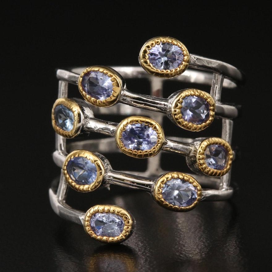 Sterling Tanzanite Wrap Ring