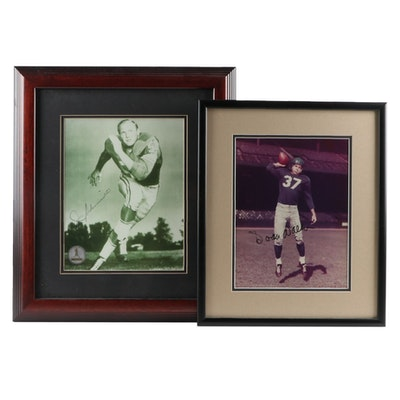 Detroit Lions Joe Schmidt and Doak Walker Signed Photographs