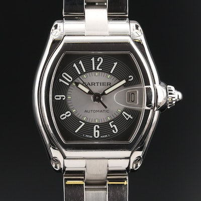 "Cartier ""Roadster"" Stainless Steel Automatic Wristwatch"