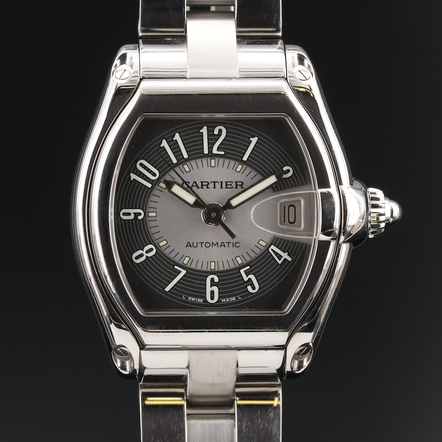 """Cartier """"Roadster"""" Stainless Steel Automatic Wristwatch"""