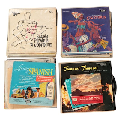"World Music, ""Learn a Language"", Spoken Word, and Other Vinyl Records"