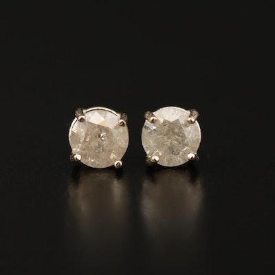 14K 1.04 CTW Diamond Stud Earrings