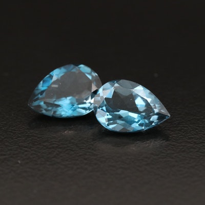 Loose 4.54 CTW Matched Pair London Blue Topaz