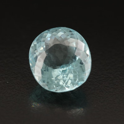 Loose 8.07 CT Oval Faceted Aquamarine