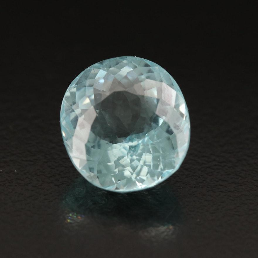 Loose 8.07 CT Oval Faceted Aquamarine
