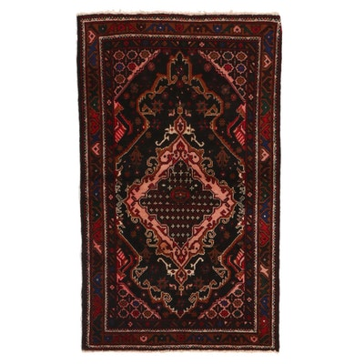 2'9 x 4'7 Hand-Knotted Afghan Baluch Accent Rug