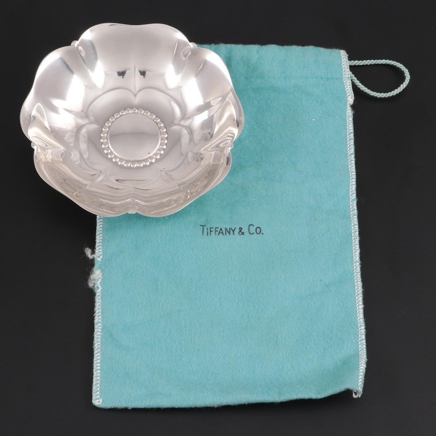 Tiffany & Co. Flower Shaped Sterling Silver Master Nut Dish