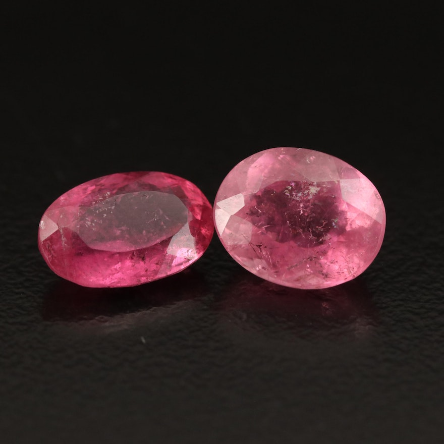 Loose 4.31 CTW Oval Faceted Tourmalines