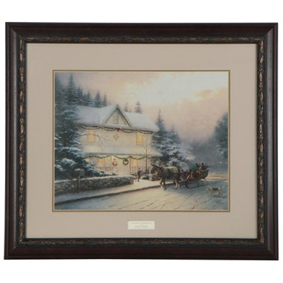 "Offset Lithograph after Thomas Kinkade ""Victorian Christmas IV,"" 21st Century"