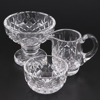Waterford Crystal Giftware Compote, Creamer, and Open Sugar