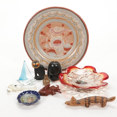 Glass, Pottery, Figurines, and Mexican Folk Art