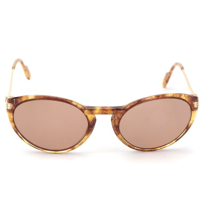 Cartier Havana Cat Eye Prescription Sunglasses with VEI Case