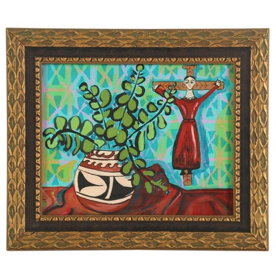 "Eric Lubkeman Acrylic Painting ""Santos"""