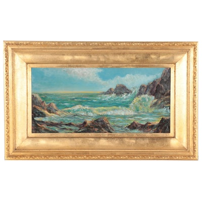 Seascape Oil Painting, 20th Century