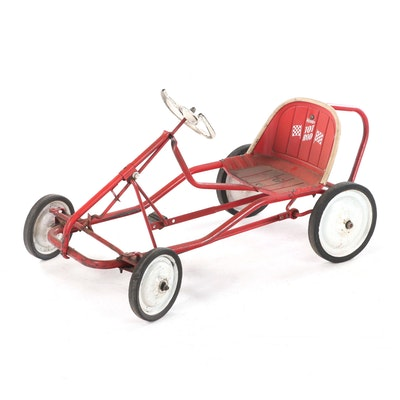 """Murray """"Tot Rod"""" Child's Painted Steel Pedal Car, Mid to Late 20th Century"""
