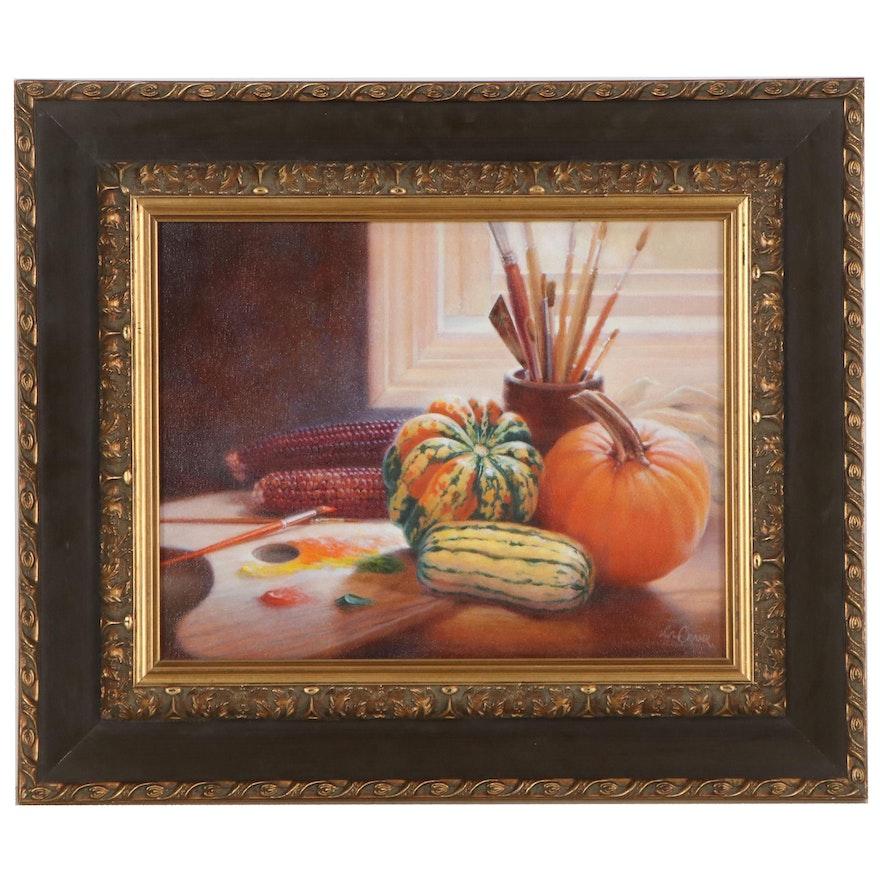Linda Crank Still Life Oil Painting, 21st Century