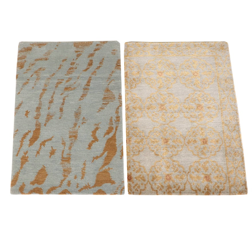 2'1 x 2'11 Hand-Knotted Nepalese Accent Rugs from The Rug Gallery