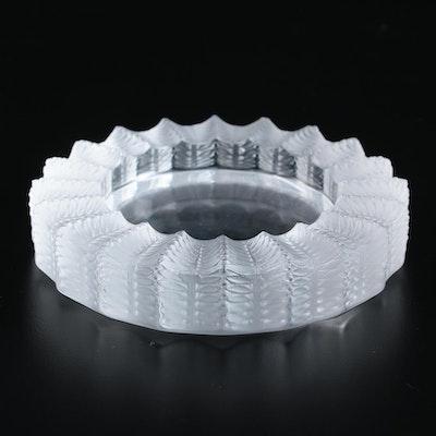 "Lalique ""Jamaique"" Crystal Ashtray"