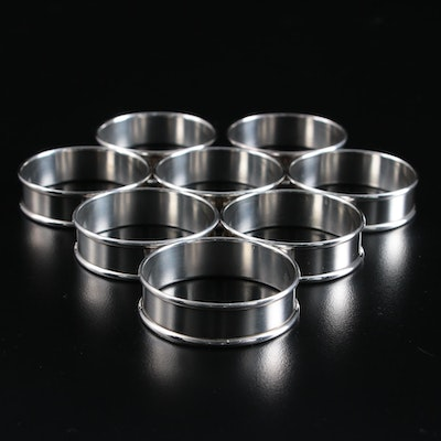 Alvin Sterling Silver Classic Napkin Rings