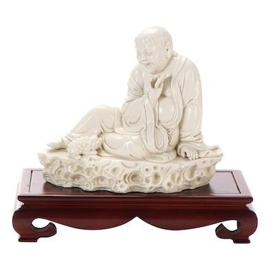 Chinese Blanc de Chine Liu Hai and Three-Legged Toad Figurine