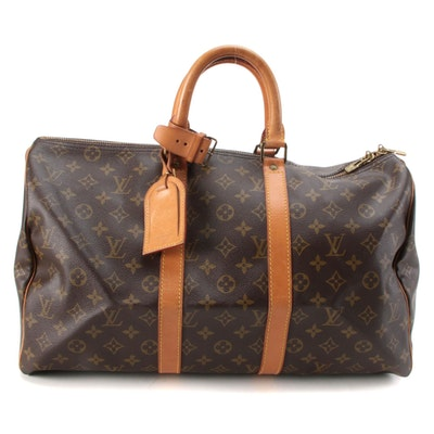 Louis Vuitton Keepall 45 Bag in Monogram Canvas