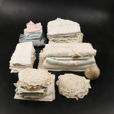 Tablecloths, Napkins, Hand Towels, Baby Clothes and Other Vintage Linens