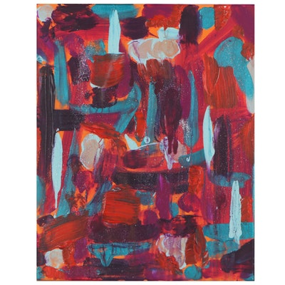 Alessia Odell Abstract Acrylic Painting, 2021