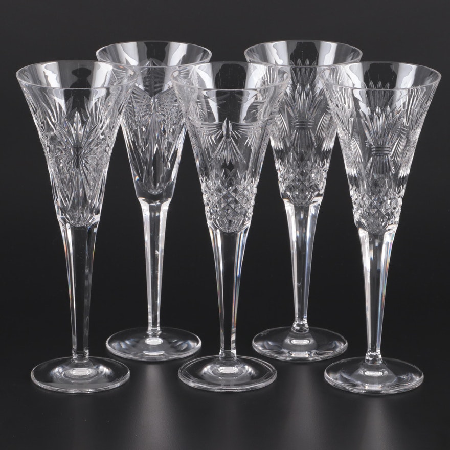 Waterford Millennium Series Crystal Champagne Flutes