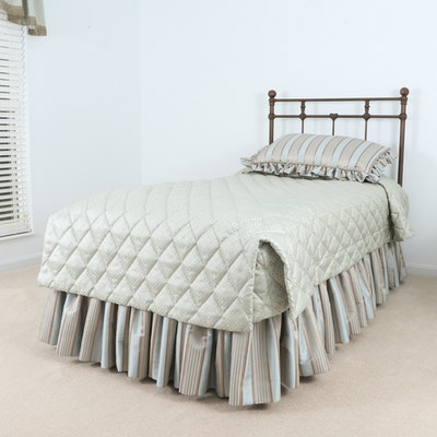 Sleep Number 5000 Model Adjustable Twin Bed with Base and Headboard