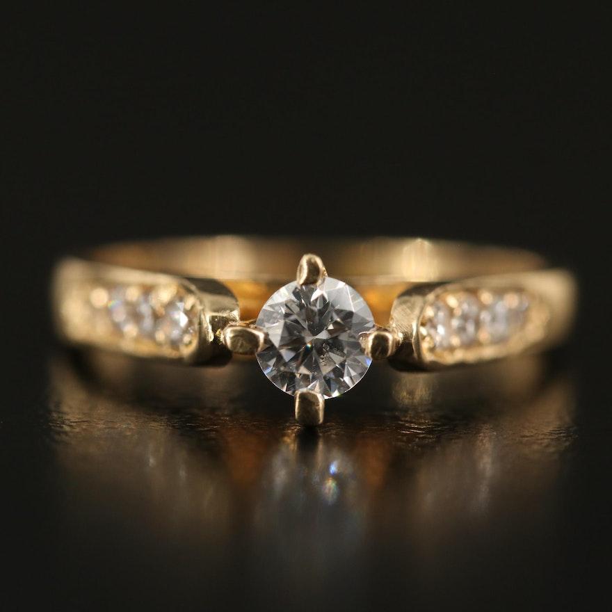 14K Cubic Zirconia Ring