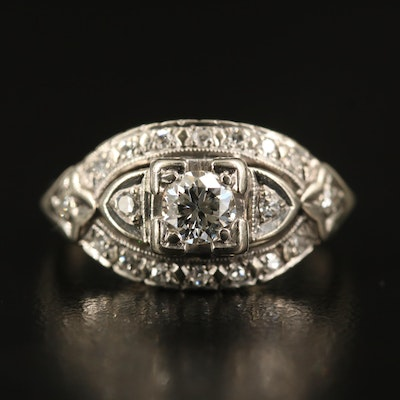 1940s 14K Diamond Ring