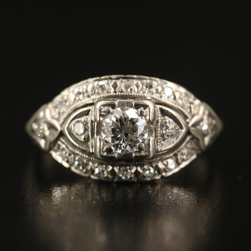 1940s 14K Diamond Ring