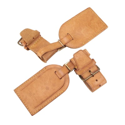Louis Vuittons Vachetta Leather Luggage Tags and Poignets