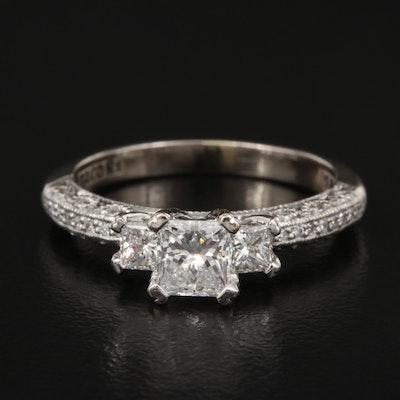 Tacori 18K Diamond Ring with GIA Online Report