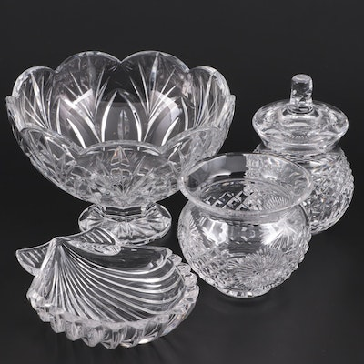 Waterford Biscuit Barrel and Vase with Other Marquis by Waterford Bowls