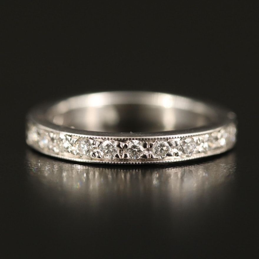 14K Diamond Milgain Band