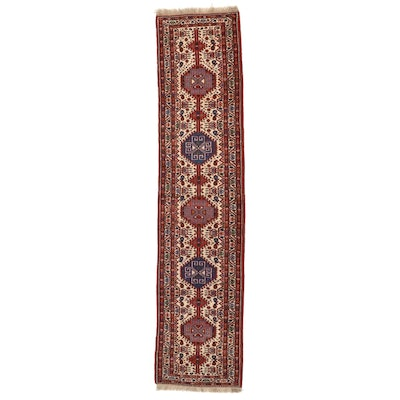 3' x 13'1 Hand-Knotted Persian Shiraz Wool Carpet Runner
