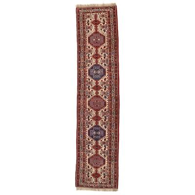 3' x 13'1 Hand-Knotted Persian Shiraz Wool Carpet Runner