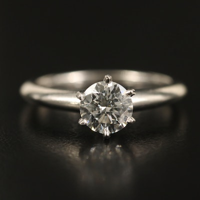 Tiffany & Co. Platinum 1.01 CT Diamond Solitaire Ring with GIA Report
