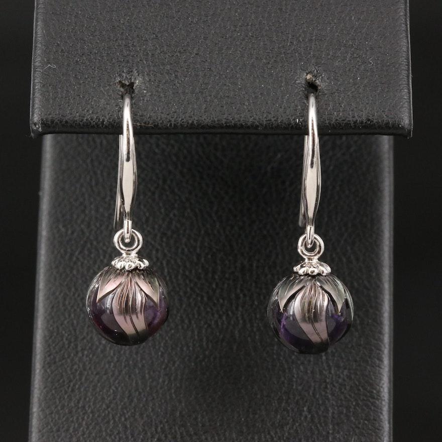 Galatea 14K Amethyst Drop Earrings