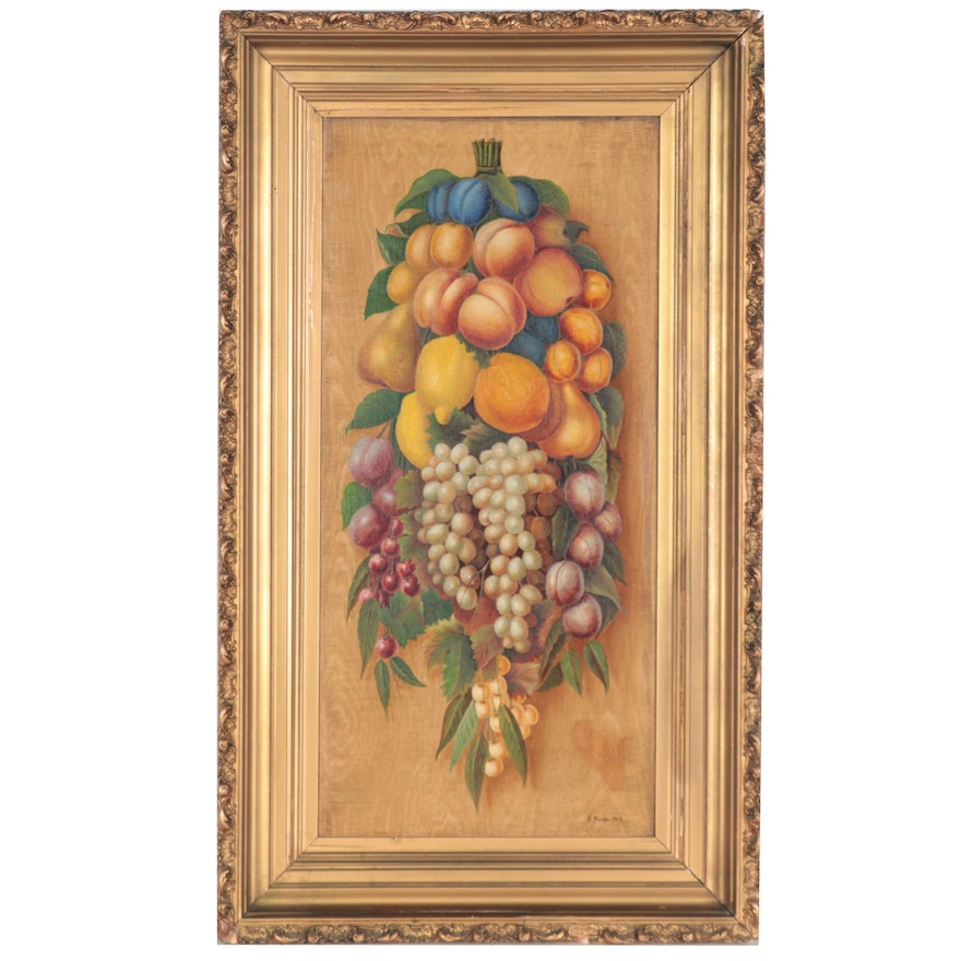Still Life Oil Painting with Fruit, 1909