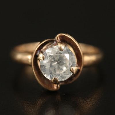 Vintage 10K Zircon Solitaire Ring