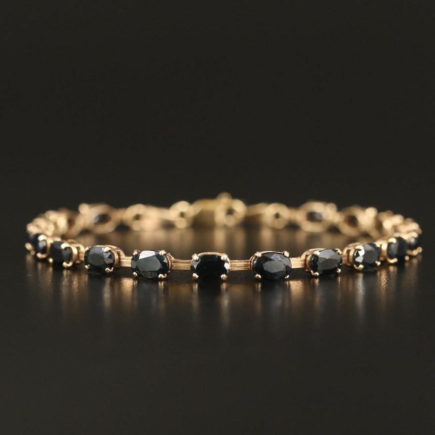 10K Sapphire Line Bracelet